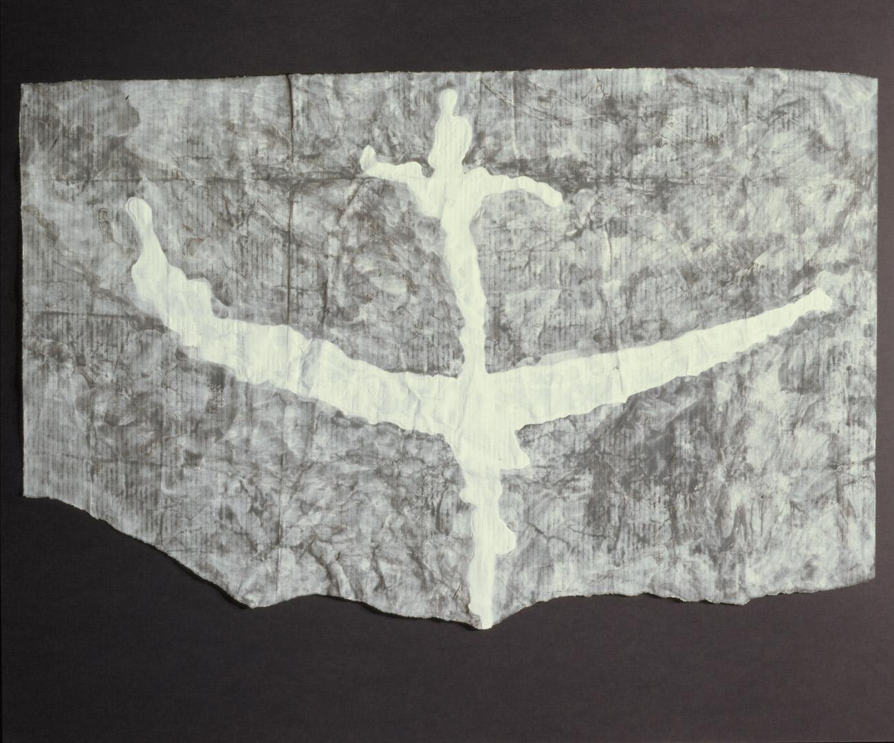 Kamikaze 1994 acquerello su carta preparata con vinavil e gesso