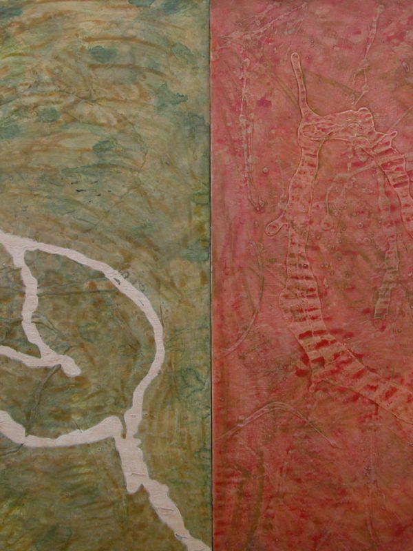Fiore Assente 1991 Yoruzzu, lo scudo dell'imperatore acquarello su carta intelaiata