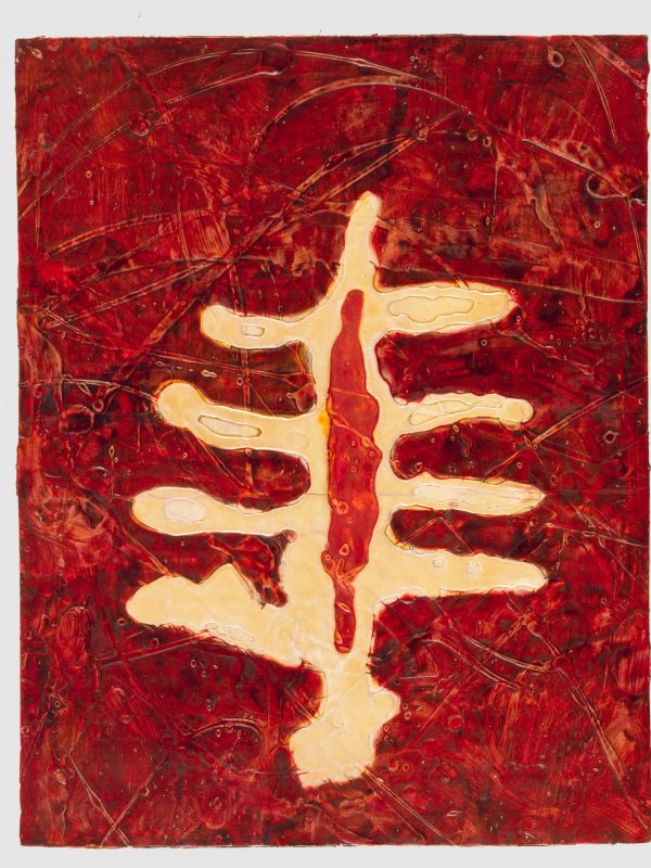 Fiore Assente 1991 olio su cartone preparato