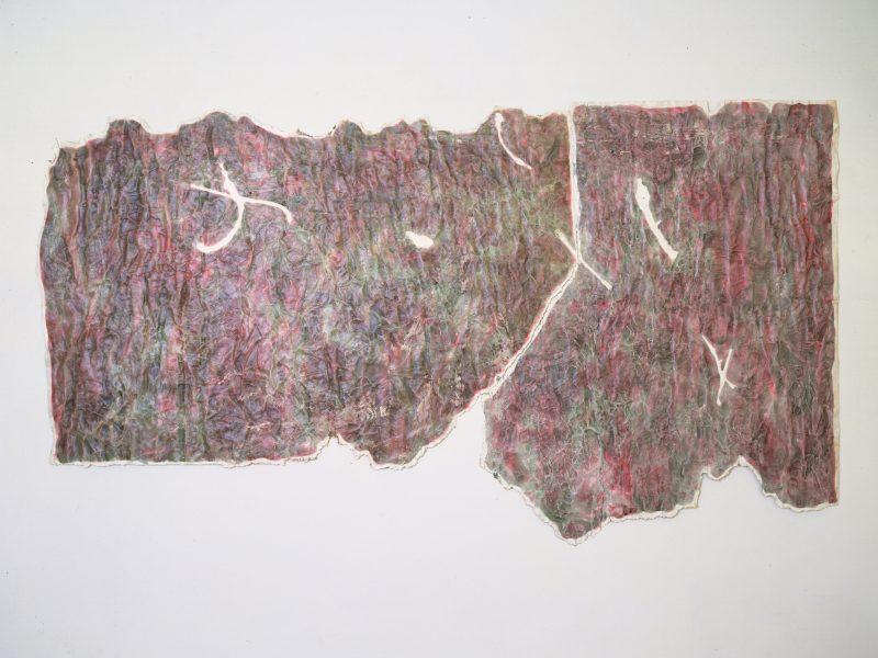 Cielo Estraneo 1983 acquerello e colla vinilica su carta preparata e strappo 1983