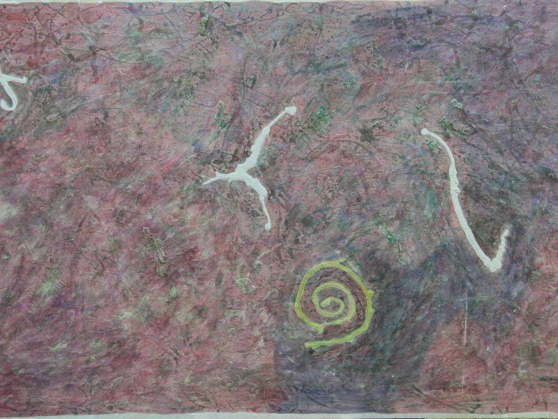 Cielo Estraneo 1987 acquerello su compensato