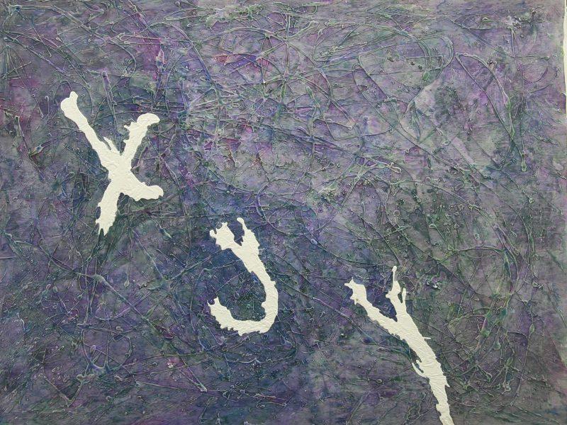Cielo Estraneo 1987 acquerello e cementite su complnsato cm 120x160