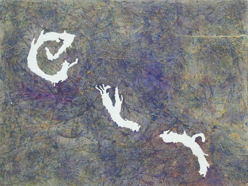 Cielo Estraneo 1987 acquerello e cementite su compensato
