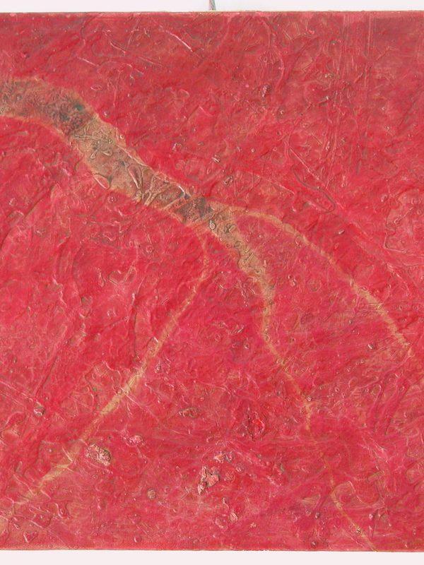 Formichiere Trapoliere, Vulcano 1986 olio e cementite su tela