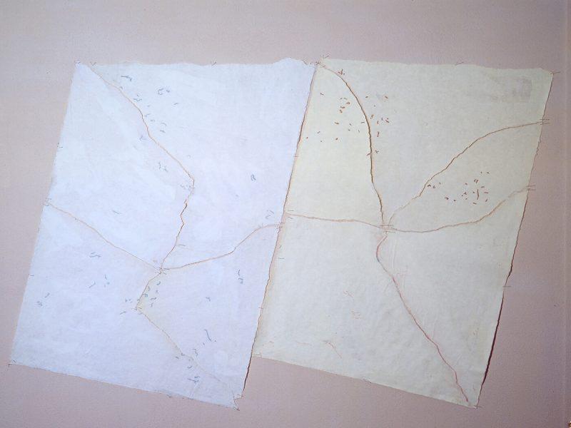 Carte di Riso Sinfonia Italiana tempera e strappo su carta di riso