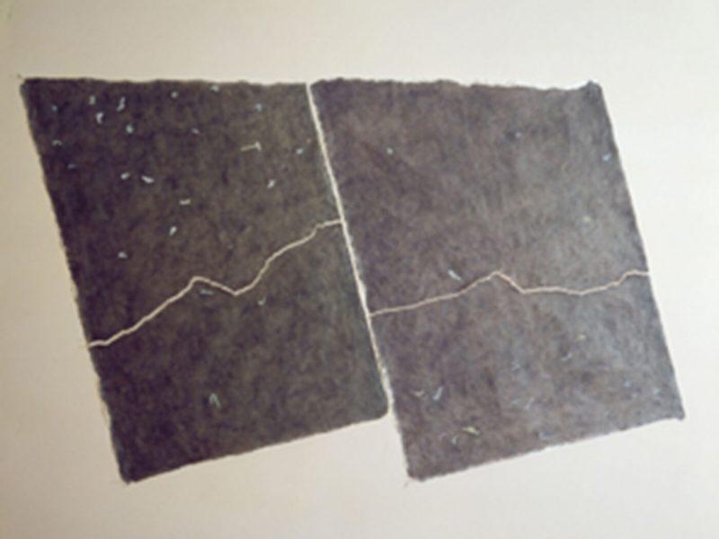 Carte di Riso Sinfonia Italiana Nera tempera e strappo su carta di riso